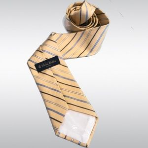 Brooks Brothers Makers Yellow Striped Silk Tie